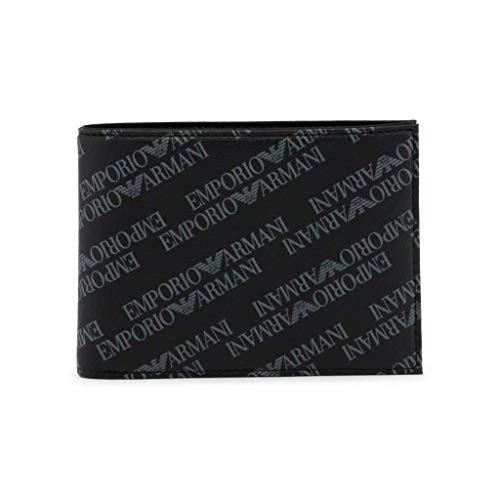 Emporio Armani cartera billetera bifold hombre piel