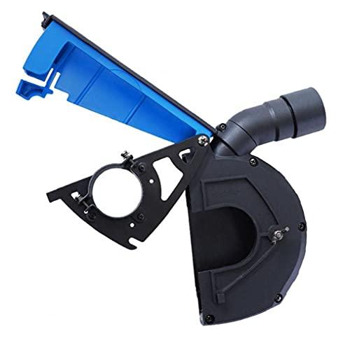 NIDONE Cubierta Protectora Amoladora Angular Polvo de amolado Cubierta a Prueba de Polvo de Piedra Accesorios Máquina para Recoger el Polvo Azul