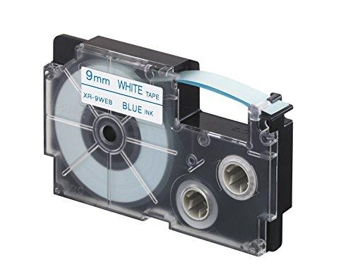 CASIO EZ-Label Printer XR-9WEB1 Schriftband selbsthaftend 9 mm x 8,0 m blau auf weiß