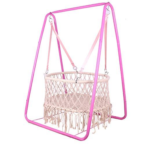LYN&xxx Baby-Rocker Schaukel und Stuhl, handgemachte Kinder Indoor Outdoor Hängesessel Hängematte, Komfortabler Sitzkleinkind Nursery Decor