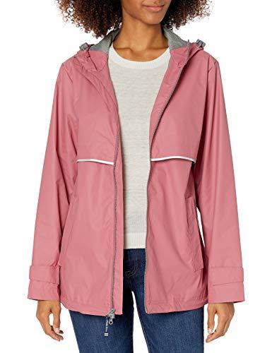 Charles River Apparel Women's New Englander Rain Jacket, Mauve/Reflective, L