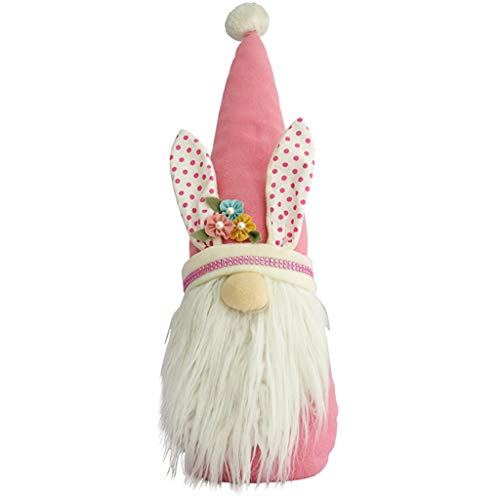 YU-HELLO _Gnomo de conejo de Pascua para decoración de habitación de niña nórdico sueco escandinavo Tomte Elf