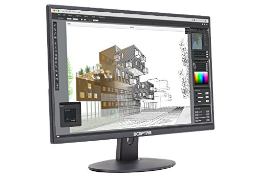 Sceptre E275W-19203R 27 Ultra Thin 1080P LED Monitor 2X HDMI VGA Build-In Speakers, Metallic Black 2018