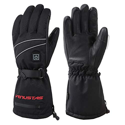 [2020 Upgrade] Heated Gloves for Men and Women, Rechargeable Heated Gloves and Winter Gloves ski Gloves Heat up to 8 Hours