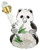 Decantador de whisky Decantador de vinos Panda Decanter - Tar jarra de té con la cocina de Spigot Entretene Cristalería Jarra de agua para el jugo, el vino, la kombucha y las bebidas frías, claro, 500