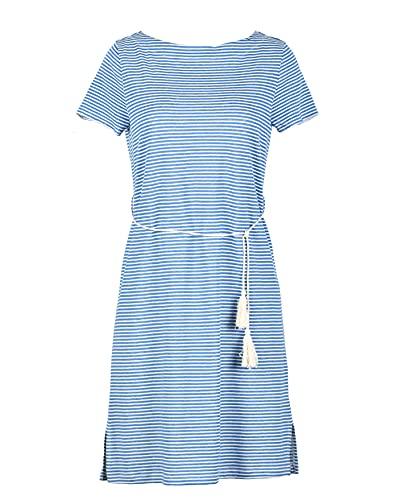 Naturana Damen Strandkleid 74889 Gr. 44/46 in blau-weiß