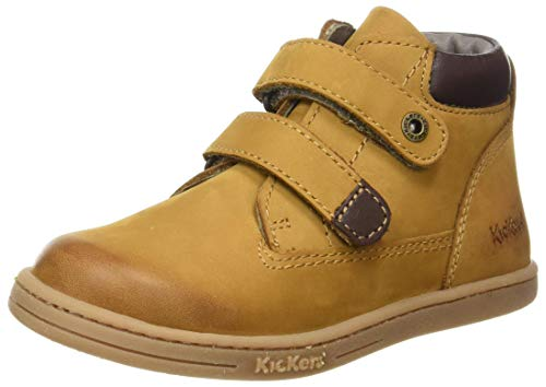 Kickers 571983-10-116, Unisex Baby Lauflernschuhe, Braun (Camel Marron Perm 116), 20 EU