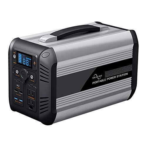 TGHY 500W Generador Solar Portátil de 614.4Wh con Puerto AC/DC/USB QC 3.0/Tipo C y Luz LED Fuente de Alimentación de Respaldo para Exteriores Camping Emergencia,220v