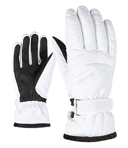 Ziener Damen KILENI PR Ski-Handschuhe/Wintersport   Warm, Atmungsaktiv, Primaloft, White, 6,5
