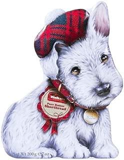 Walkers White Scottie Dog Tin 7oz