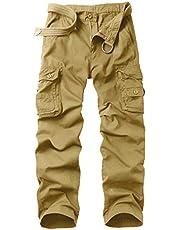 KOCTHOMY Men's Cargo Pant Lightweight Straight Casual Relaxe