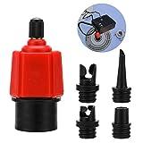 Oumers adaptador inflable para bomba de aire SUP convertidor, 4 estándares de válvula de aire convencional accesorio para barco inflable, tabla de remo de pie, cama inflable, etc.