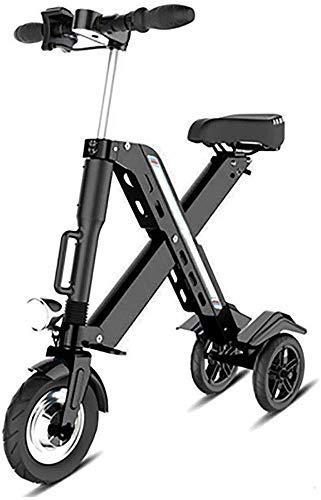 Bicicleta Plegable eléctrica, de Litio de Las Pilas de Bicicletas Lectric Triciclo Scooter Ligero y Plegable de Aluminio de Bicicletas DDLS