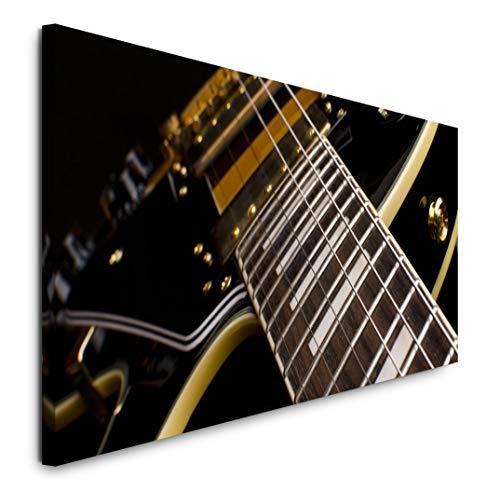 Paul Sinus Art GmbH E-Gitarre Nahaufnahme 120x 50cm Panorama Leinwand Bild XXL Format Wandbilder Wohnzimmer Wohnung Deko Kunstdrucke