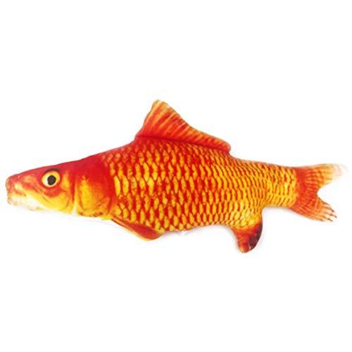 Lalaoo Fisch Hai, Haustiere, Katze, Wackelfisch, realistisches Plüsch-Spielzeug, Katzenminze, weiches Geschenk für Haustiere, Kauen, rutschfeste Mauspad, Size:20cm;Style:Red carp;
