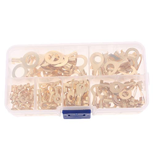 150 pezzi Heavy Duty capicorda in ottone con occhielli Ring Terminal Connectors Kit