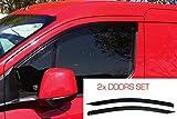 2x Deflectores de Aire Compatible con Ford Transit Connect 2013 - Presente (Mk2) Derivabrisas protección sol lluvia nieve viento Vidrio acrílico PMMA de primera calidad