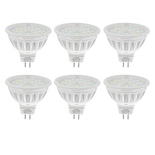 DC12V 5.5W Dimmbar GU5.3 MR16 LED Lampe Ersetzt 60W 600LM Neutralweiss 4000K RA85,120°Abstrahlwinkel,6er Pack.