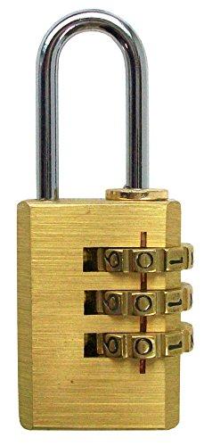 CON:P Zahlenvorhangschloß 29 x 3 mm, Messing, 1 Stück, B34122