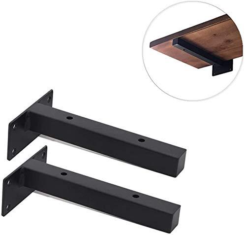 2-delige wandmontage, zwevende metalen planken, verborgen verborgen hardware wandsteun voor doe-het-zelf-wandplanken, meerdere maten (zwart, wit)