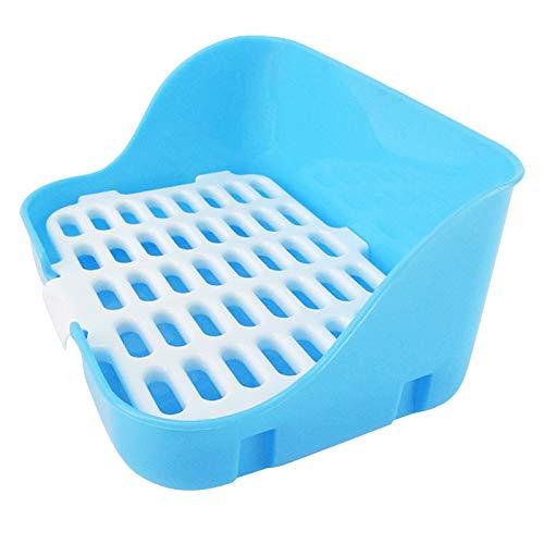 Hoomall Durable Pet Cavy Kaninchen Hamster Kleintier Toilette Pee Corner Wurf Tablett Blau Pink Gelb