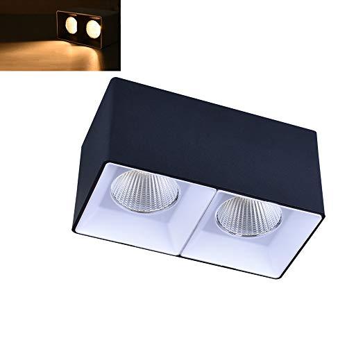 Modenny La double tête a mené les projecteurs montés sur panneau carrés de plafond enfoncés en aluminium Downlight ultra lumineux anti-dazzle commerciaux dirigés lumières enfoncées décoration salon ce