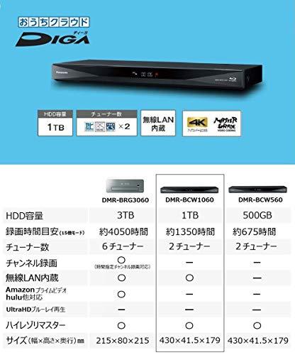 『パナソニック 1TB 2チューナー ブルーレイレコーダー 4Kアップコンバート対応 おうちクラウドDIGA DMR-BCW1060』の5枚目の画像