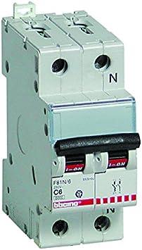 1P+N 4.5 kA 10 A BTicino F810N//10 Interruttore Automatico 2 Moduli