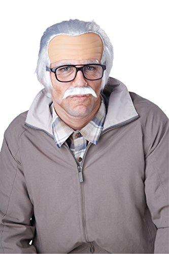 California Costumes Men's Rude Grandpa Wig, Gray, One Size