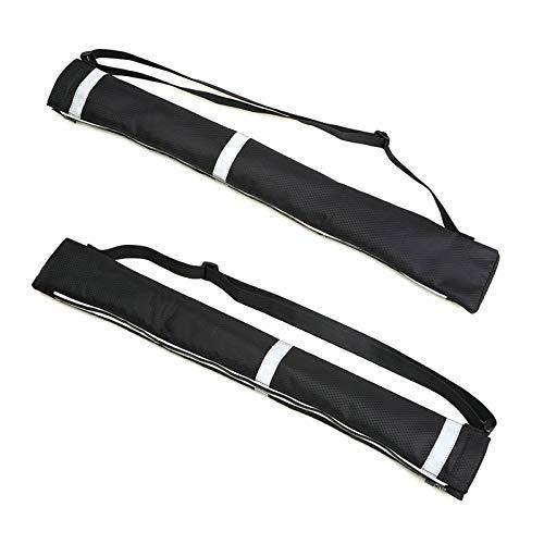 Haokaini 2 Stück Reverse-Regenschirm-Tragetaschen Doppellagige Umkehrschirm-Aufbewahrungstasche mit Reflektierenden Sicherheitsstreifen Schultergurt wasserdichte Regenschirmhülle