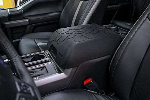 Boomerang Tire Tread Armpad for Ford F150 (2015-2021) - Flow-Through Console Version - Center Console Armrest Cover