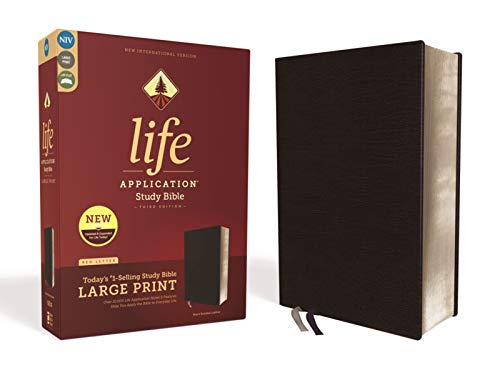 Compare Textbook Prices for NIV, Life Application Study Bible, Third Edition, Large Print, Bonded Leather, Black, Red Letter Edition Large Print, Expanded, Updated Edition ISBN 9780310452881 by Zondervan