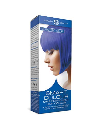 Smart Beauty Electric Blue, Semi-Permanent Hair Dye, Salon Quality Hair color with Conditioners, 75 ml