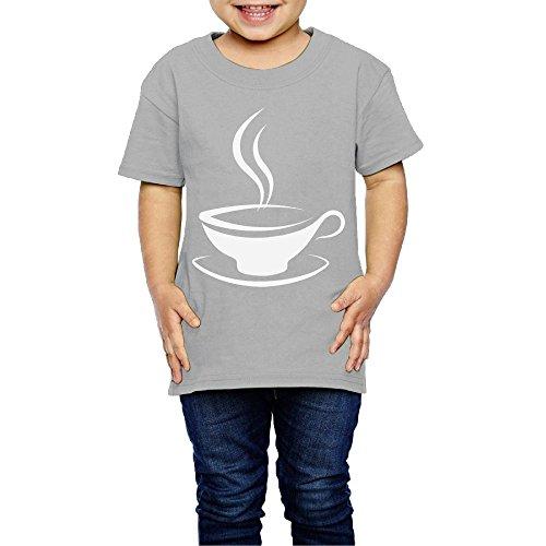 Yishuo Children Coffee Mug Cool Party Shirt Short Sleeve Gray 4 Toddler
