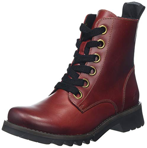 Fly London Damen Ragi539fly Kurzschaft Stiefel, Rot (Red 006), 38 EU