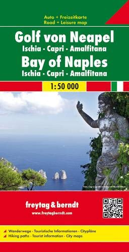 Freytag Berndt Autokarten, Golf von Neapel - Ischia - Capri - Amalfitana, Maßstab 1:50 000