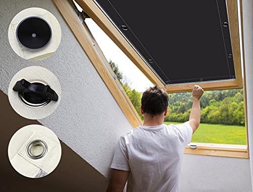 Lucernario per Tetto 60x120cm Termica Isolante Anti UV, Tenda Rullo Tende A Vetro per Finestre Velux Roto Protezione Solare Riduzione Calore