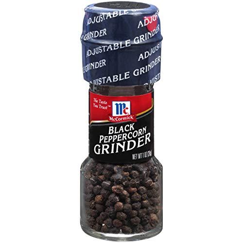 McCormick Black Pepper Grinder, Adjustable Coarseness, 1 oz