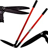 Nti 36' MARKSMAN Side Cutting Border Shears Grass Lawn Edge Cutter Home & Garden Hedge Trimmer Outdoor Gardening Extra Long Handled Soft Grip Edgers Carbon Steel Hand Tools UK FREE P&P