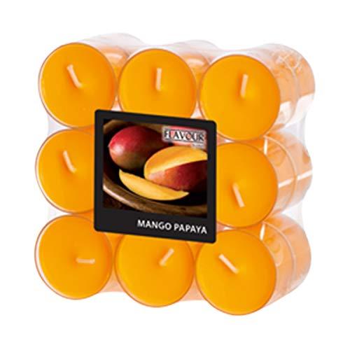 Gala kaarsen 030 631 632 geur-theelichtje Mango (pak van 18)