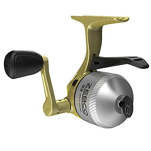 Zebco 33 Micro Gold Triggerspin Reel 4LB Zebco Cajun Line