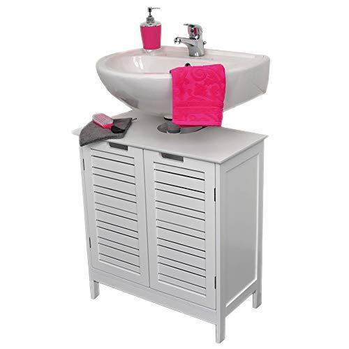 Evideco Non Pedestal Bath Under Sink Storage Vanity Cabinet Miami White