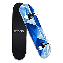 "Suitable for All Level Skaters - 31"" ×8"" full size double kick concave design is suitable for any level of riders, beginners or pros. Even children can rely on exercising balance to control the sliding direction of the skateboard easily. Complete wit..."