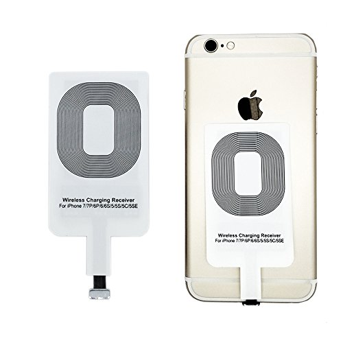 Qrity Qi Empfänger Wireless Charger Receiver Empfänger für iPhone 7/7 Plus, iPhone 6/6S/6 Plus, iPhone 5/5s/5c