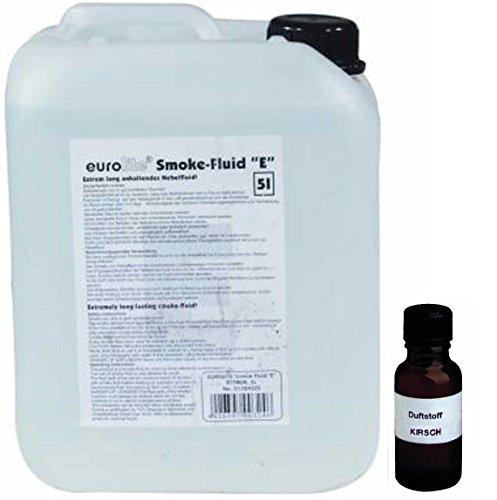 5 Liter Eurolite E (Extrem) Nebelfluid + 20 ml Duftstoff Kirsche, Smoke-Fluid, Nebel-Fluid-Flüssigkeit für Nebelmaschine