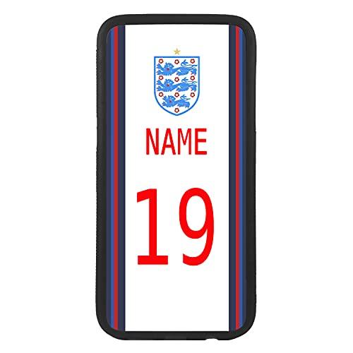 Carcasa funda de móvil personalizada con tu nombre y número de la selección inglesa para J5 (2017) funda de goma flexible TPU borde negro crea tu diseño para la eurocopa 2021 Samsung Galaxy