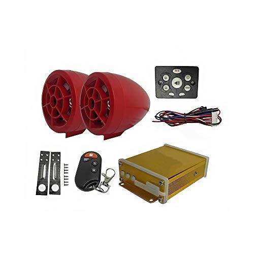 LOVSE Altavoz universal de reproductor de MP3 de sonido antirrobo Bluetooth de la motocicleta controlado por cable