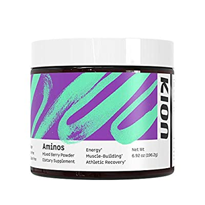 Kion Aminos Essential Amino Acids Powder Supplement | The Building Blocks for Muscle Recovery, Reduced Cravings, Better Cognition, Immunity, and More | 30 Servings (Mixed Berry)
