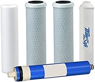5 Stage Reverse Osmosis Replacement Filter Pack with Membrane