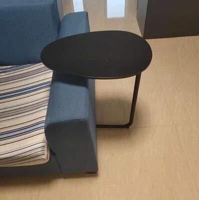 Inter FAST - Tavolino da salotto semplice e moderno, in ferro battuto, divano ad angolo, per lettura, comodino, ovale, tavolino da tè in legno massiccio (colore: G)